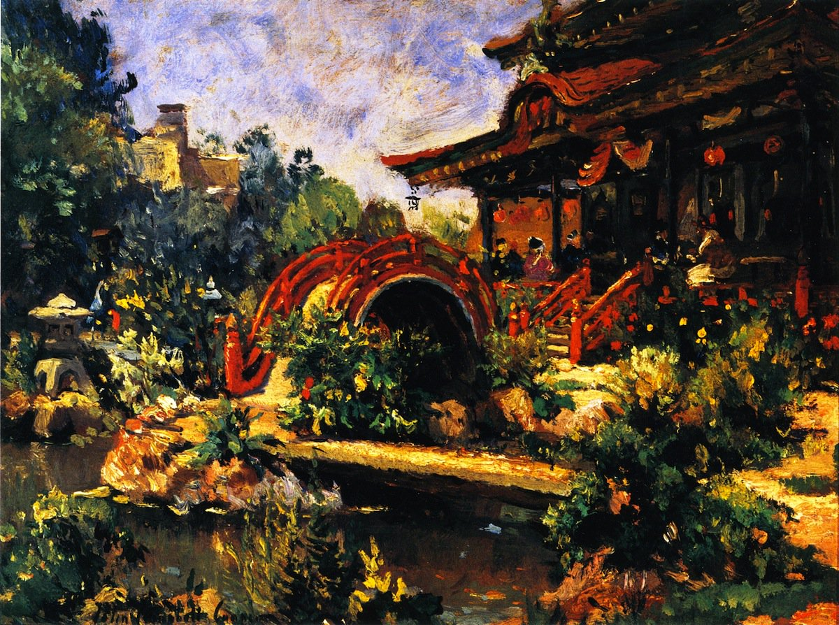 Japanese Tea Garden Painting | Colin Campbell Cooper Oil Paintings