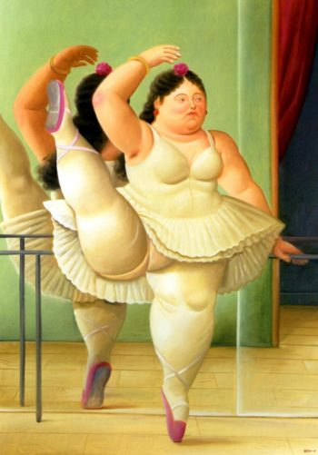 Dancer at the Barre | Fernando Botero | oil painting
