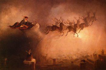 Santa Claus (redish coloring)   William Holbrook Beard   oil painting