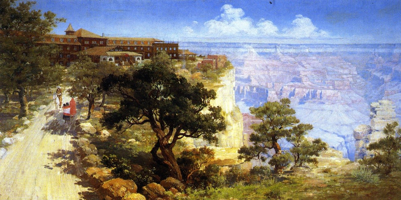 El tovar hotel grand canyon painting louis akin oil for El tovar grand canyon