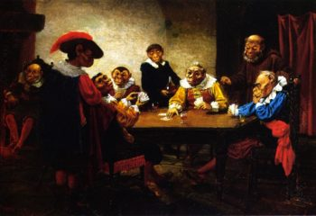 The Poker Game | william holbrook beard | oil painting