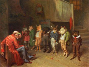 School Rules   william holbrook beard   oil painting