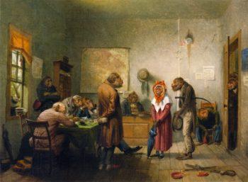 Divorce   william holbrook beard   oil painting