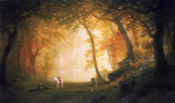 A Rest on the Ride | Albert Bierstadt | oil painting