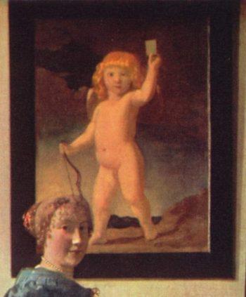 English Title - Fragment of A Lady Standing at a Virginal (Image:Jan_Vermeer_van_Delft_024.jpg | Jan Vermeer van Delft | oil painting