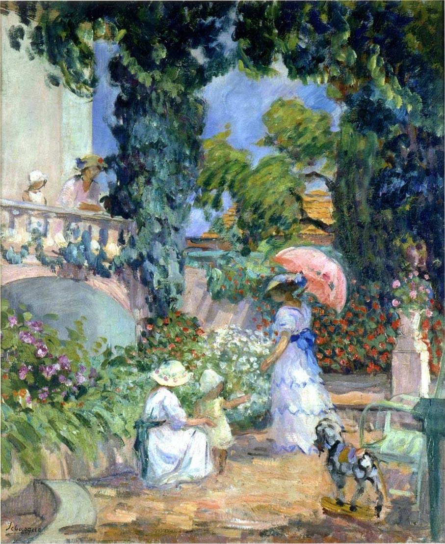 Terrace In The Garden | Henri Lebasque | Oil Painting