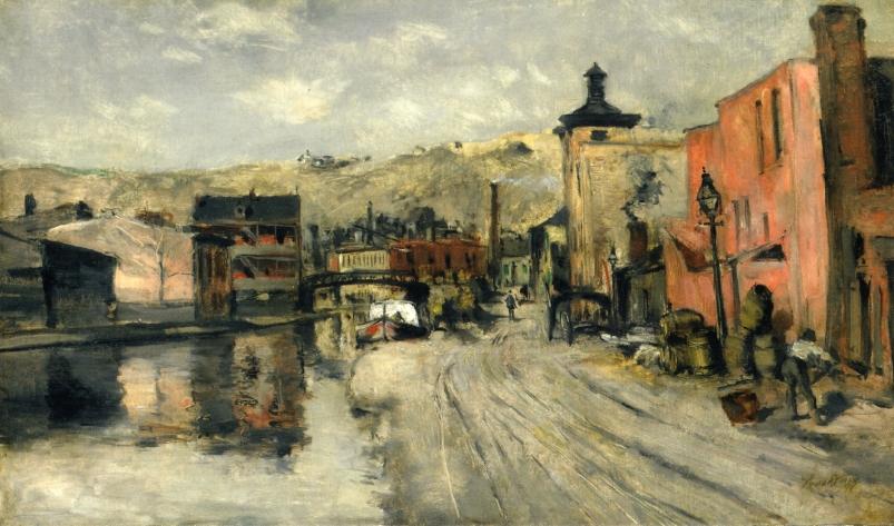 Miami Canal Cincinnati Painting John Twachtman Oil Paintings - Painting miami