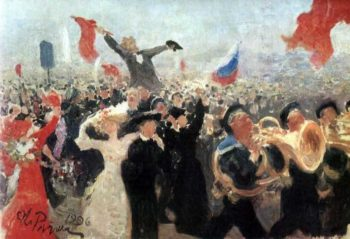Demonstration on October 17 1905 | Ilia Efimovich Repin | oil painting