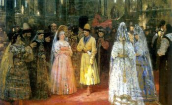 Choosing a Bride for a Grand Duke | Ilia Efimovich Repin | oil painting