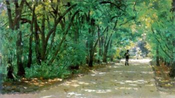 Alley in the park Kachanovka   Ilia Efimovich Repin   oil painting