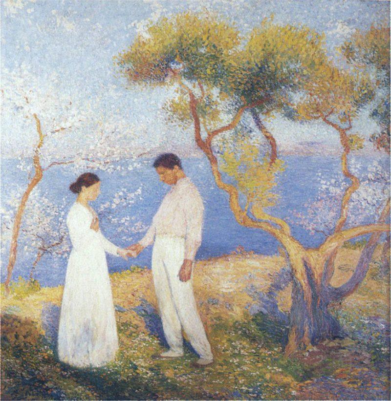 Paysage au Couple | Henri Martin | oil painting
