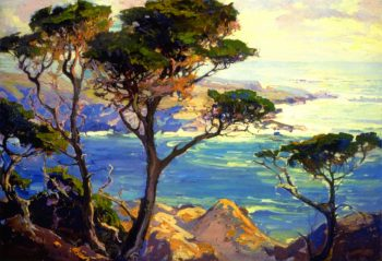 A Lonely Headland Point Lobos | Franz Bischoff | oil painting