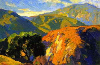 Pasadena Foothills   Franz Bischoff   oil painting