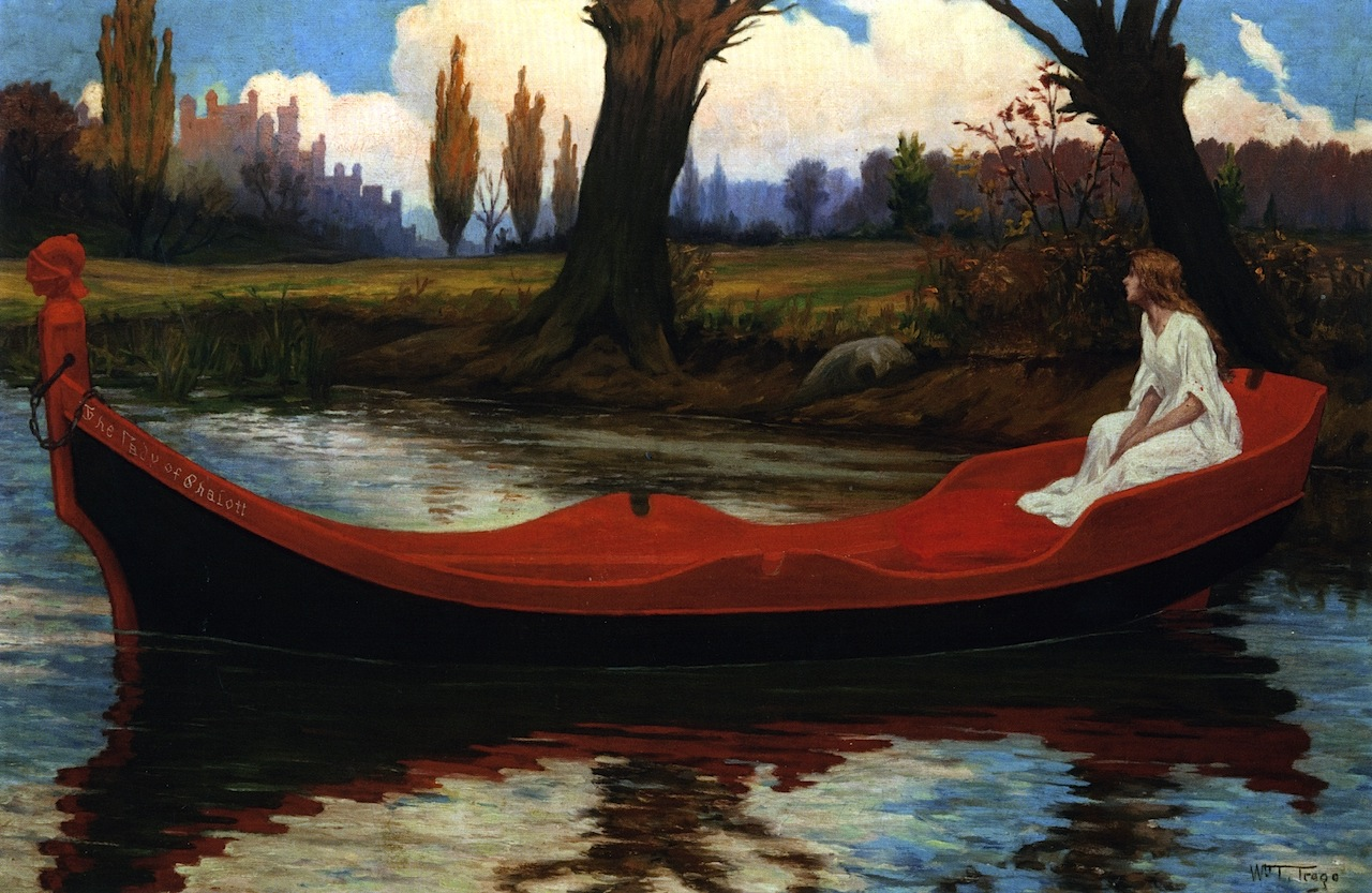 The Lady Of Shalott Painting William Trego Oil Paintings