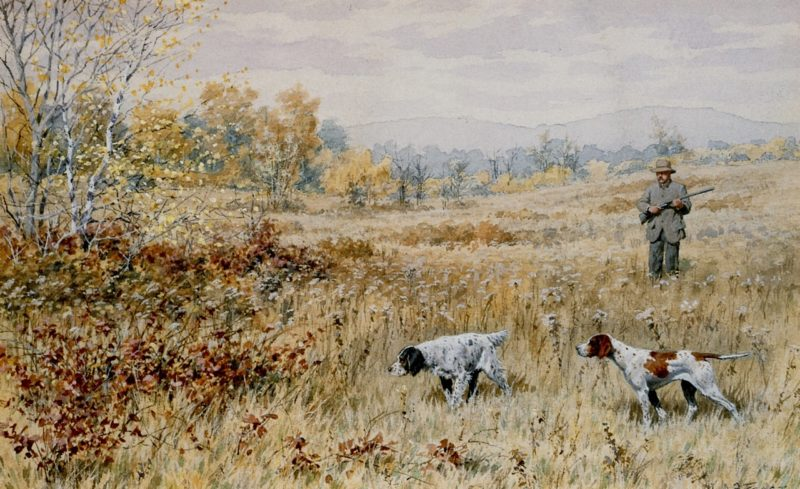 Quail Shooting A Dead Stand | Arthur B Frost | oil painting