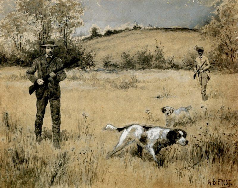 Quail Shooting | Arthur B Frost | oil painting