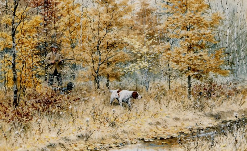 Fall Woodcock Shooting Version 2 | Arthur B Frost | oil painting