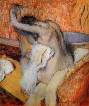 After the Bath Woman Drying Herself 1895-1900 Edgar Degas