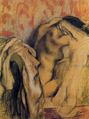 After Bathing Woman Drying Herself 1905-1907 Edgar Degas
