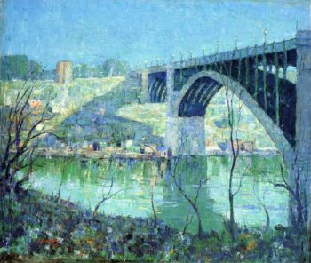 Spring Night Harlem River | Ernest Lawson | oil painting