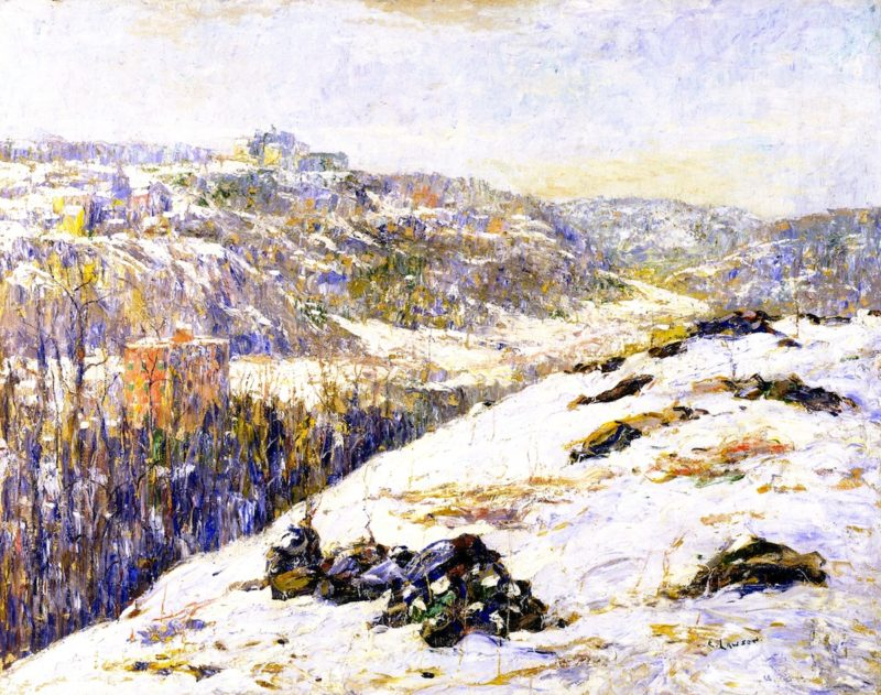 Harlem River Winter | Ernest Lawson | oil painting