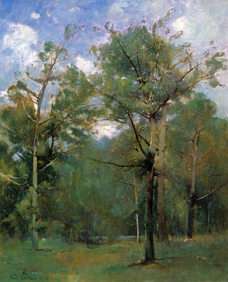 Woods Painting Emil Carlsen Oil Paintings