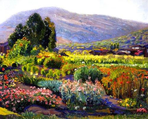 The Flower Garden Laguna | Joseph Kleitsch | Oil Painting