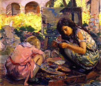 Curiosity 1   Joseph Kleitsch   oil painting