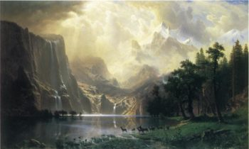 Among the Siera Navada Mountains California | Albert Bierstadt | oil painting