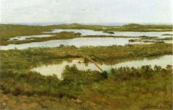 A River Estuary | Albert Bierstadt | oil painting