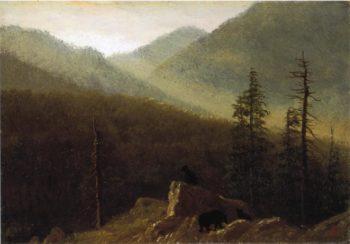 Bears in the Wilderness | Albert Bierstadt | oil painting