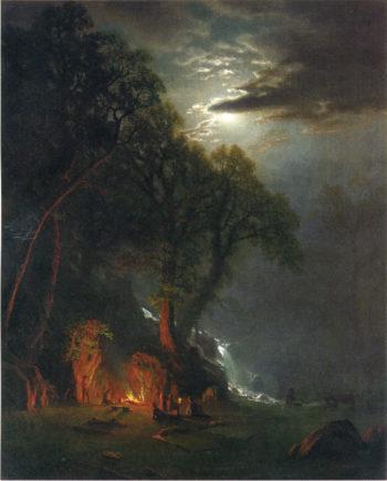 Campfire Site Yosemite | Albert Bierstadt | oil painting