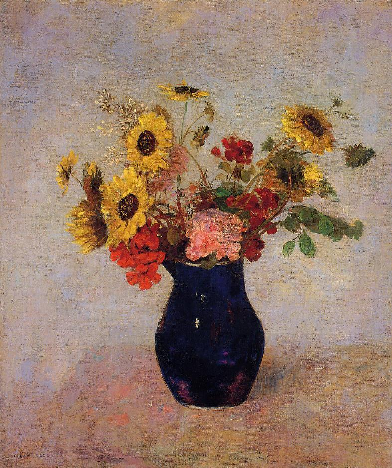 Vase Of Flowers 11 Painting Odilon Redon Oil Paintings