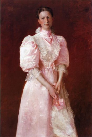 A Study in Pink | William Merritt Chase | oil painting