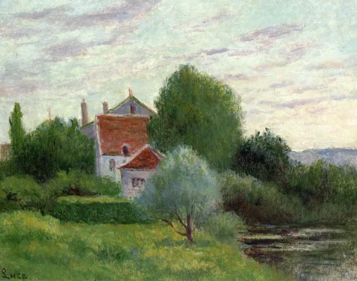 Auvers sur Oise Landscape   Maximilien Luce   oil painting