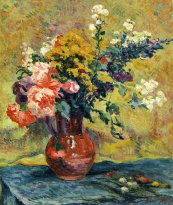Bouquet of Flowers in a Vase | Maximilien Luce | oil painting