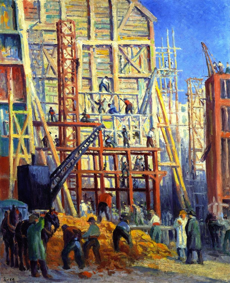 Building Site   Maximilien Luce   oil painting