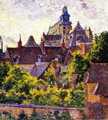 Church incisors | Maximilien Luce | oil painting