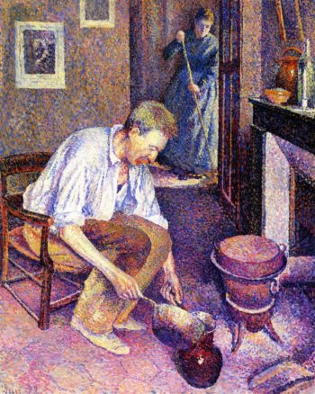Coffee | Maximilien Luce | oil painting