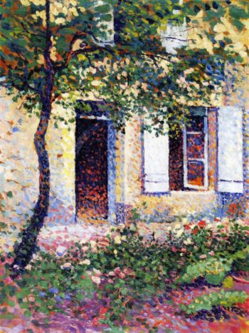 Doorway rue Corot | Maximilien Luce | oil painting