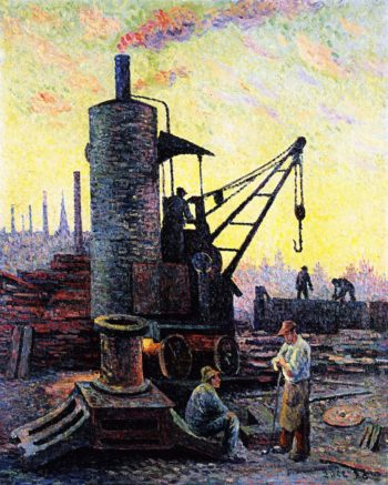 Factories in Charleroi Coullet | Maximilien Luce | oil painting