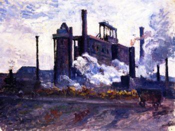 Factory near Charleroi | Maximilien Luce | oil painting