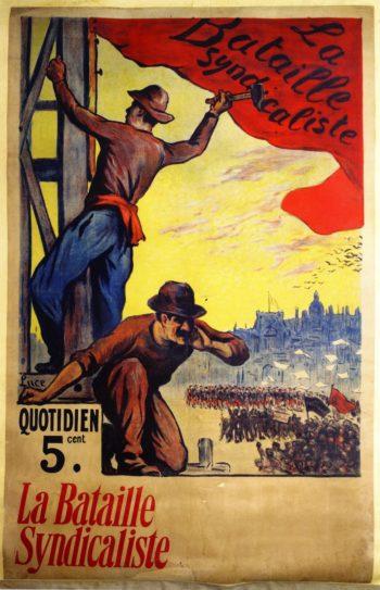 La Bataille Syndicaliste | Maximilien Luce | oil painting