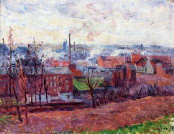 Landscape at Marchiennes | Maximilien Luce | oil painting