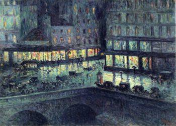 La Samaritaine Night | Maximilien Luce | oil painting
