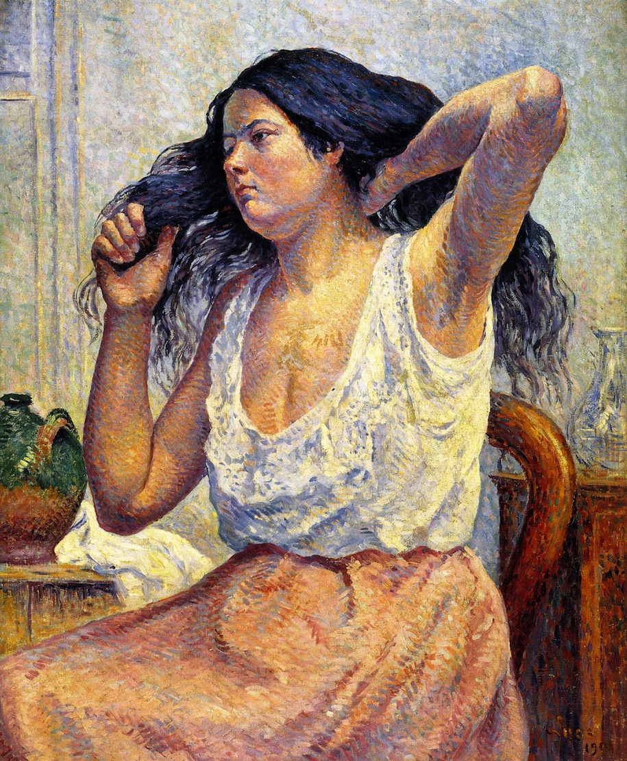 Madame Bouin at Her Toilet | Maximilien Luce | oil painting
