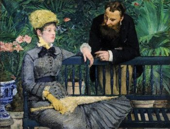 In the Conservatory | Edouard Manet | oil painting