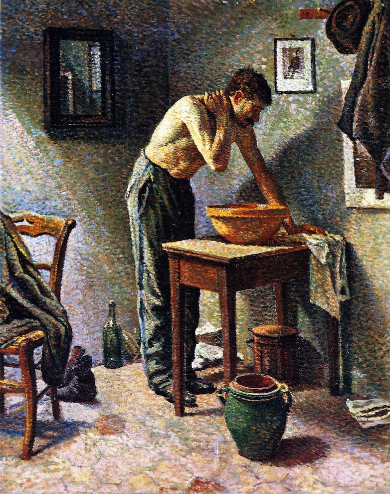 Man Washing | Maximilien Luce | oil painting