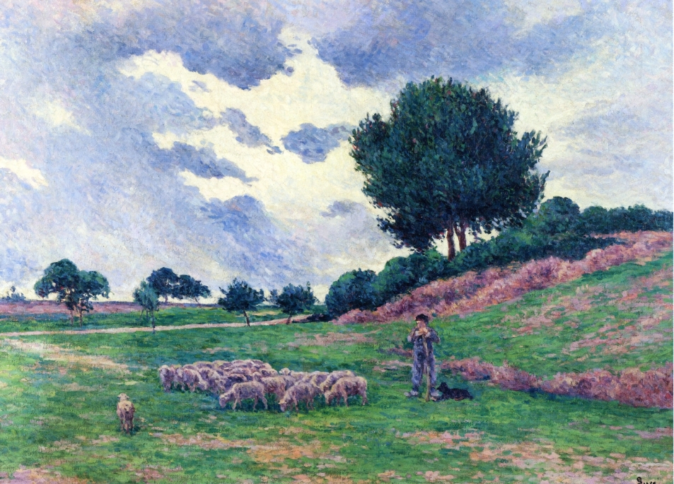 Mereville a Herd of Sheep | Maximilien Luce | oil painting
