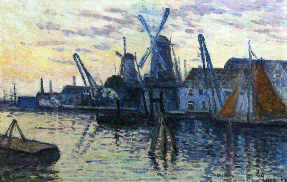 Mills in Holland | Maximilien Luce | oil painting